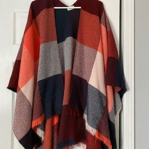 Plaid Pull over cardigan, great quality, very warm